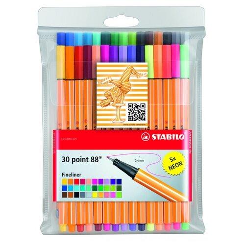 STABILO набор капиллярных ручек Point 88 30 цветов, 0.4 мм (8830-1)