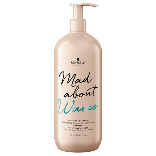 MAD ABOUT шампунь Waves Sulfate Free Cleanser 1000 мл с дозатором mad about ponies