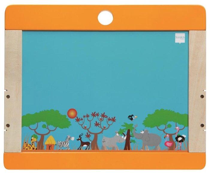 Доска для рисования детская Scratch Art Сафари (6181068)
