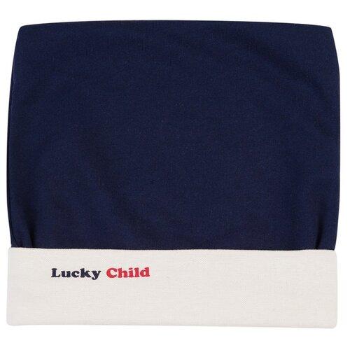 Шапка lucky child размер 36, синийГоловные уборы<br>