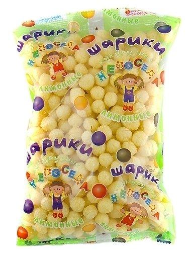 Готовый завтрак Здоровей Непоседа шарики кукурузные лимонные с сахаром, пакет