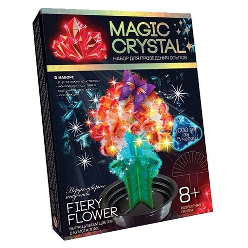 Набор для исследований Danko Toys Magic Crystal Нерукотворное искусство № 8 Fiery flower