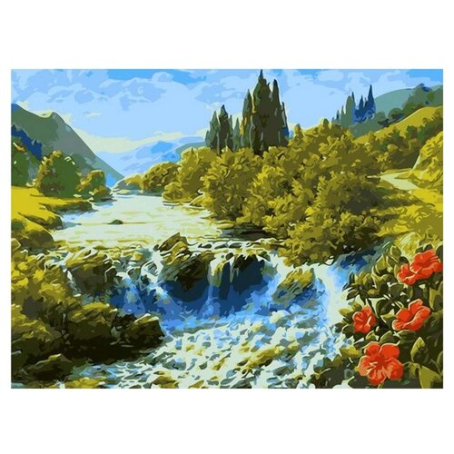 Купить Paintboy Картина по номерам Водопад 40х50 см (GX7362), Картины по номерам и контурам