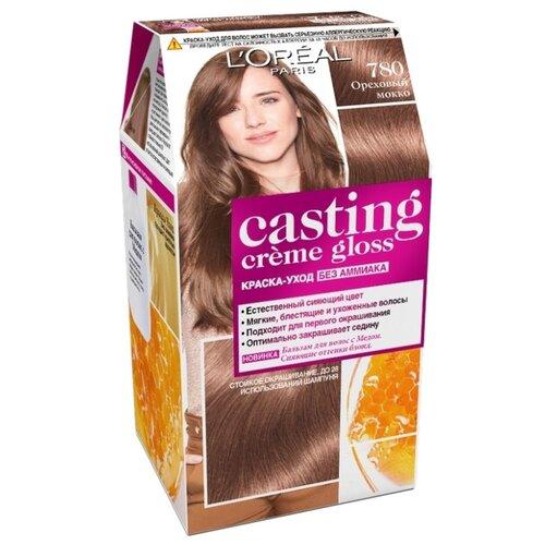 L'Oreal Paris Casting Creme Gloss стойкая краска-уход для волос, 780, Ореховый Мокко краска для волос матрикс мокко 6м отзывы