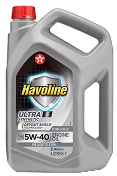 Моторное масло TEXACO Havoline Ultra S 5W-40 4 л