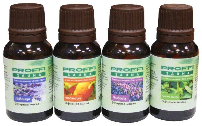 PROFFI набор эфирных масел Лаванда, апельсин, чабрец, чайное дерево