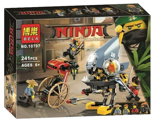 Конструктор BELA Ninja 10797 Нападение пираньи