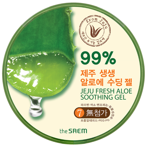 Гель для тела The Saem Jeju Fresh Aloe Soothing Gel 99%, 300 млКремы и лосьоны<br>