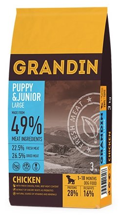 Корм для собак Grandin (12 кг) Puppy&Junior Large