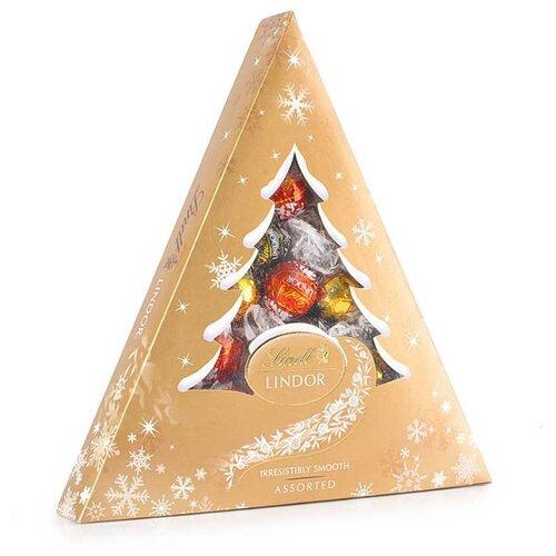 Набор конфет Lindt Lindor Елка Ассорти Золотая 125 г золотистый