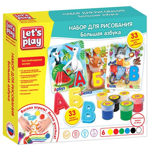 РОСМЭН Набор для рисования Let's Play Большая азбука (35848) набор для рисования play doh необычное яйцо cpdo062