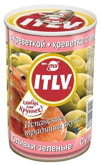 ITLV Оливки зеленые с креветкой в рассоле, жестяная банка 300 г