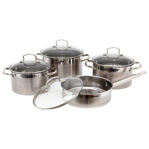 Набор посуды Bekker Premium BK-2574 8 пр. серебристый набор bekker premium bk 1619