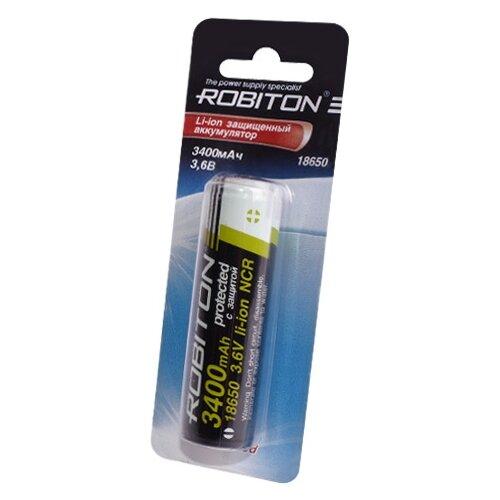 Купить Аккумулятор Li-Ion 3400 мА·ч ROBITON 18650-3400 Protected 1 шт блистер
