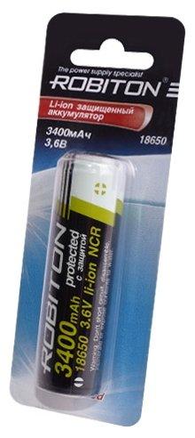 Аккумулятор Li-Ion 3400 мА·ч ROBITON 18650-3400 Protected