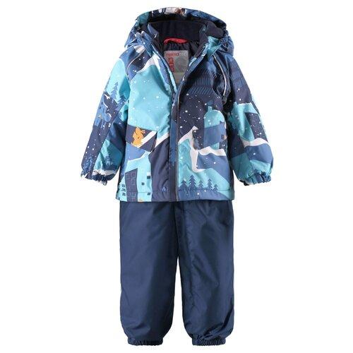Комплект с полукомбинезоном Reima размер 80, синий/голубойКомплекты верхней одежды<br>