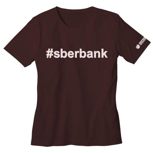 Футболка #sberbank размер 54, темно-коричневаяОдежда и аксессуары<br>