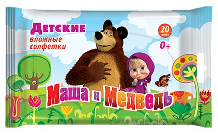 Влажные салфетки Авангард Маша и Медведь Детские