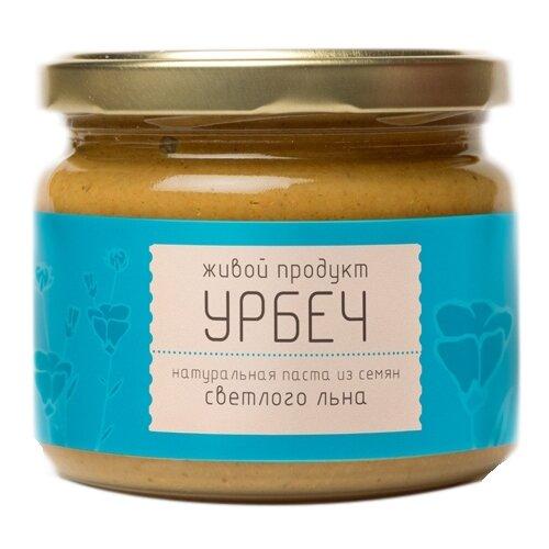 Живой Продукт Урбеч натуральная паста из семян светлого льна, 225 гШоколадная и ореховая паста<br>