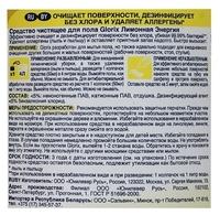 Glorix Средство для мытья полов Лимонная энергия 1 л