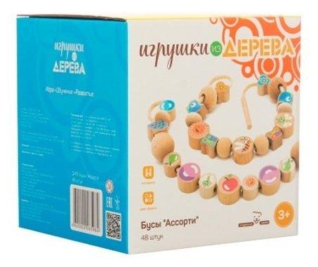 Шнуровка Мир деревянных игрушек Ассорти (Д416)