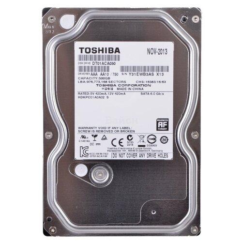 Жесткий диск Toshiba 500 GB DT01ACA050