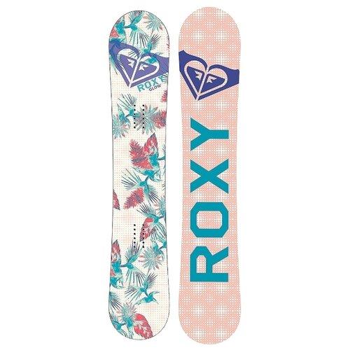 Сноуборд Roxy Glow Board Flt (17-18) белый/розовый 138