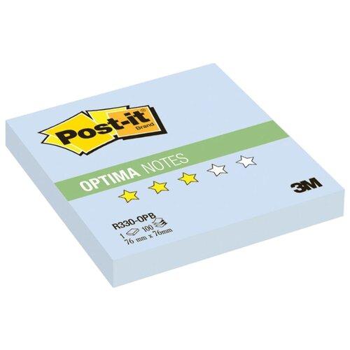 Post-it Блок-кубик Optima, 76x76 мм, 100 штук (R330) голубая пастель post it блок кубик optima 76x76 мм 100 штук r330 розовый неоновый