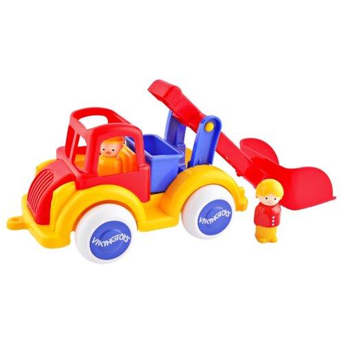 Купить Экскаватор Viking Toys Jumbo (1252) 25 см красный/желтый/голубой, Машинки и техника