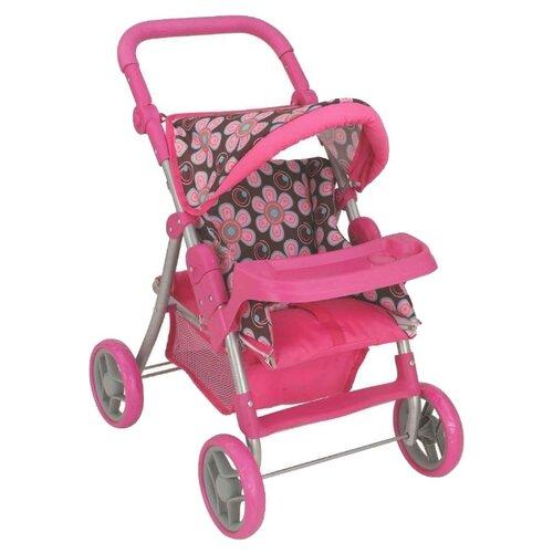Купить Коляска-трансформер Buggy Boom Skayna (8233) розовый/цветы на темном фоне, Коляски для кукол