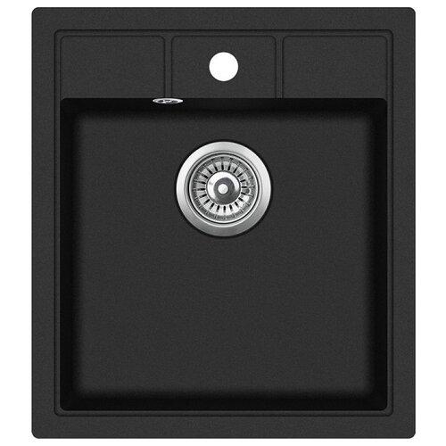 Врезная кухонная мойка 46 см TEKA Estela 45 S-TQ 1B черный металлик кухонная мойка teka classic 1b mctxt