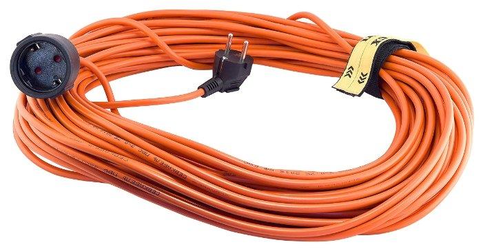 LUX Удлинитель силовой б/катушки УС1-Е-30 (У-161) ПВС 3x1.5 30м, 16А, 1 розетка с з/к