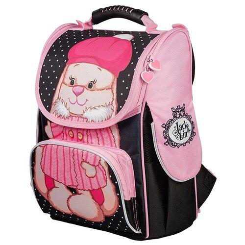 Купить Jack and Lin Рюкзак Зайка Лин в шубке (JL-102017-1) черный/розовый, Рюкзаки, ранцы