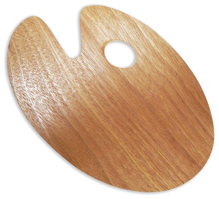 Палитра Малевичъ деревянная овальная 20х30