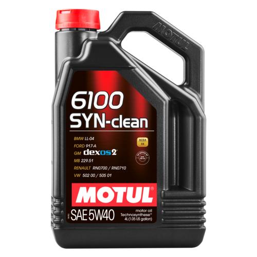 Моторное масло Motul 6100 SYN-clean 5W40 4 л