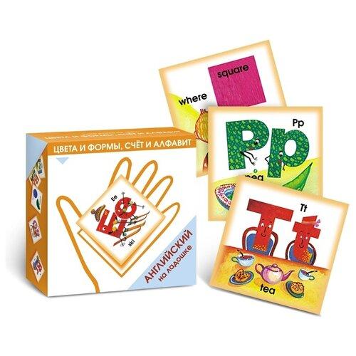 Набор карточек Маленький гений Цвета и формы, счет и алфавит 10x10 см 48 шт.Дидактические карточки<br>