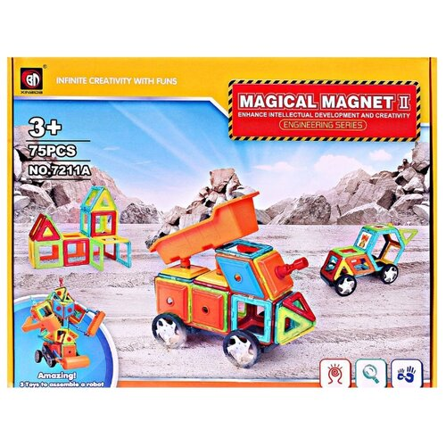 Магнитный конструктор Xinbida Magical Magnet 7211A-75