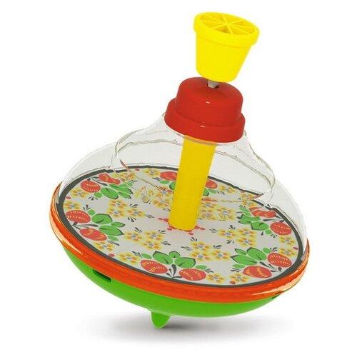 Юла Stellar прозрачная малая (01342) зеленый/красный/желтый игрушка chuc юла