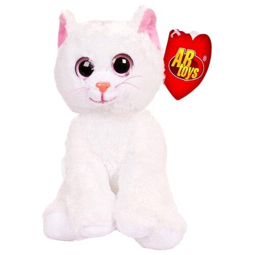 Купить Мягкая игрушка ABtoys Котёнок белый с розовыми глазами 15 см, Мягкие игрушки
