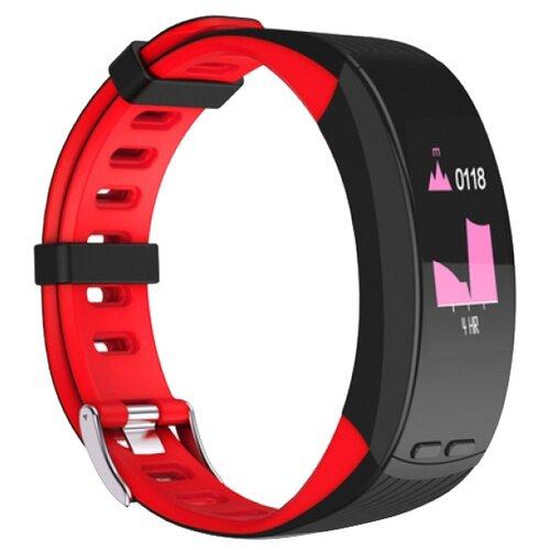Умный браслет Qumann QSB X, черный/красный