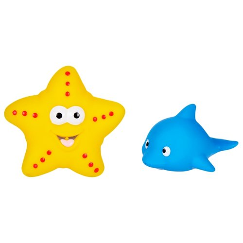 Купить Набор для ванной Жирафики Дельфин и морская звезда (681272) желтый/голубой, Игрушки для ванной