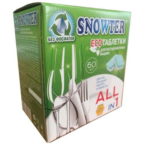 Snowter Эко таблетки для посудомоечной машины, 60 шт.