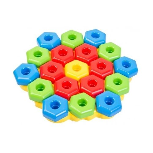 Фото - Развивающая игрушка Тигрес Игро-Пазлы желтый/красный/голубой/зеленый набор посуды тигрес ромашка 39121 красный желтый зеленый синий
