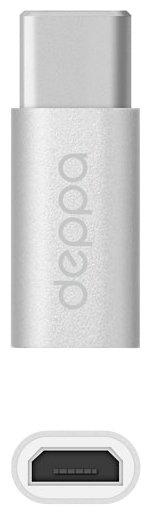 Переходник Deppa microUSB - USB Type-C (73116/73114)