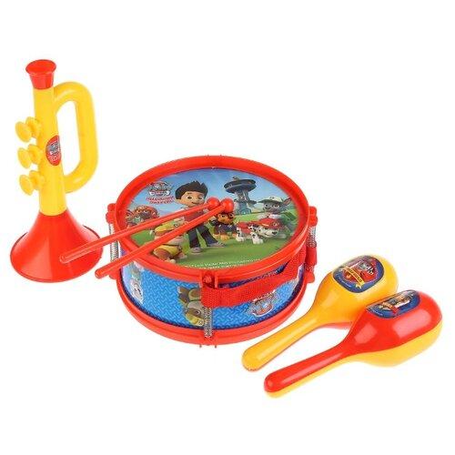 Купить Играем вместе набор инструментов Щенячий патруль B678624-R2 красный/желтый/голубой, Детские музыкальные инструменты