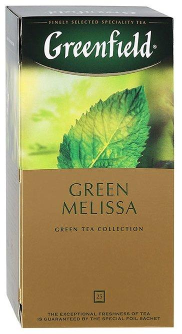 Чай зеленый Greenfield Green Melissa в пакетиках