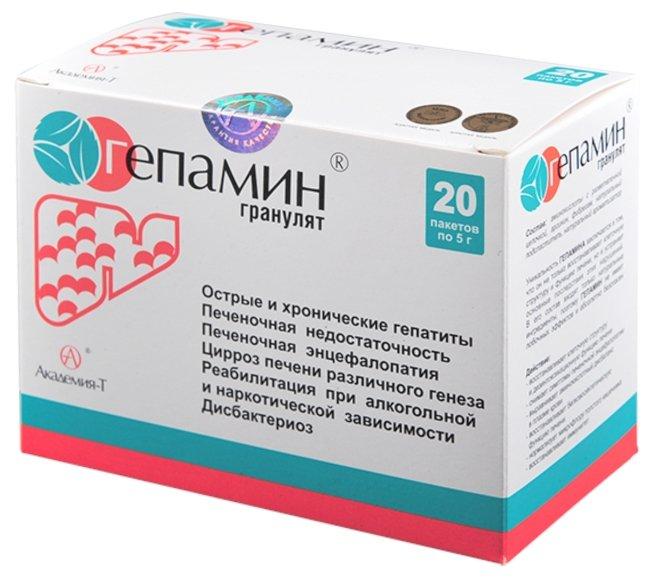 Минерально-витаминный комплекс Академия-Т Гепамин гранулят (20 пакетиков)
