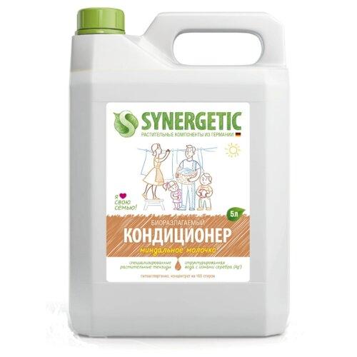 Концентрированный кондиционер для белья Миндальное молочко Synergetic 5 л канистраКондиционеры и ополаскиватели<br>