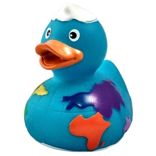Купить Игрушка для ванной FUNNY DUCKS Глобус уточка (1617) голубой, Игрушки для ванной