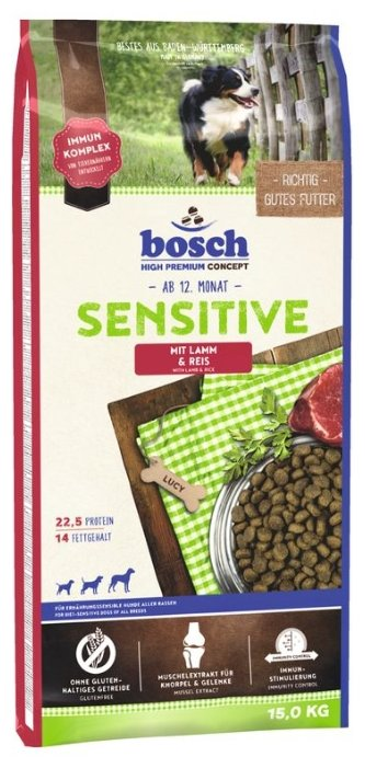 Корм для собак Bosch Sensitive ягненок